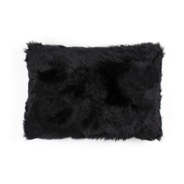 Kožešinový polštář Black, 40x60 cm