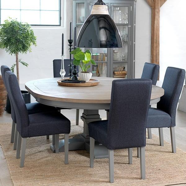 Šedý kulatý rozkládací stůl Canett Royal Dining