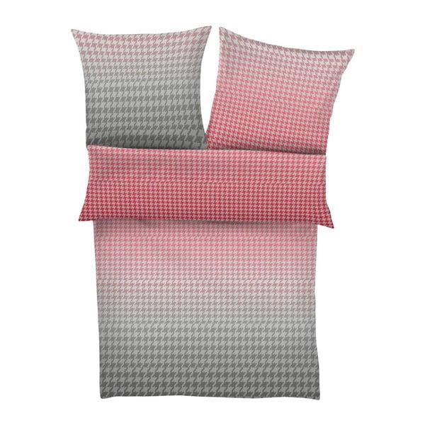 Povlečení Maco Satin Pink/Grey, 140x200 cm