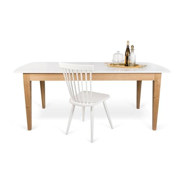 Bílý rozkládací jídelní stůl TemaHome Niche
