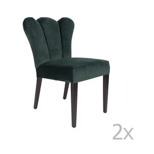 Sada 2 zelených židlí White Label Faye