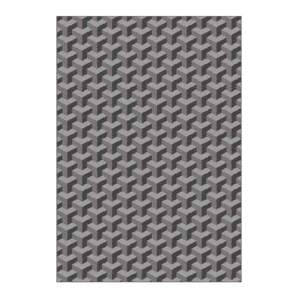 Nilo szürke mintás szőnyeg, 190x280 cm - Universal