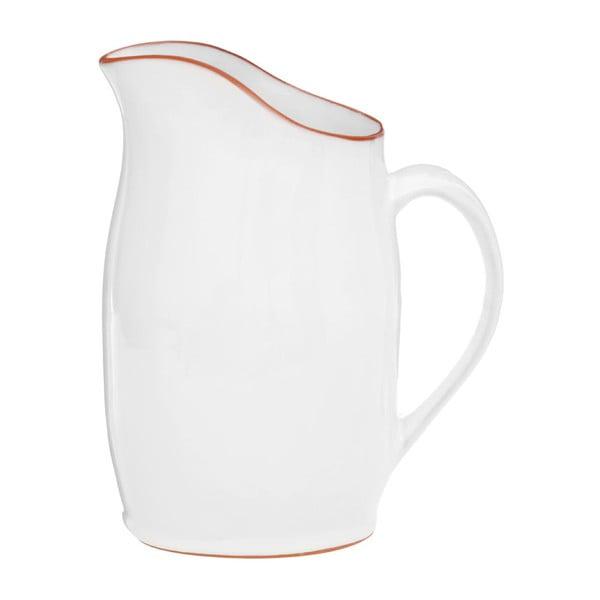 Biely džbán z glazovanej terakoty Premier Housewares, 2,5 l