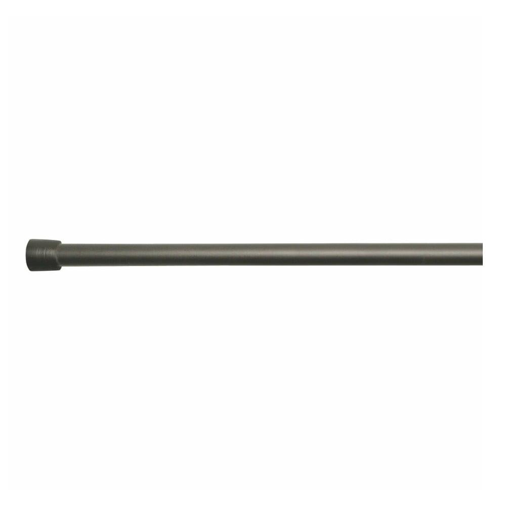 Černá tyč na sprchový závěs s nastavitelnou délkou InterDesign Rod, délka127 - 221 cm iDesign