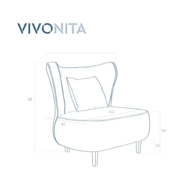Tmavě zelené křeslo Vivonita Douglas Love Seat