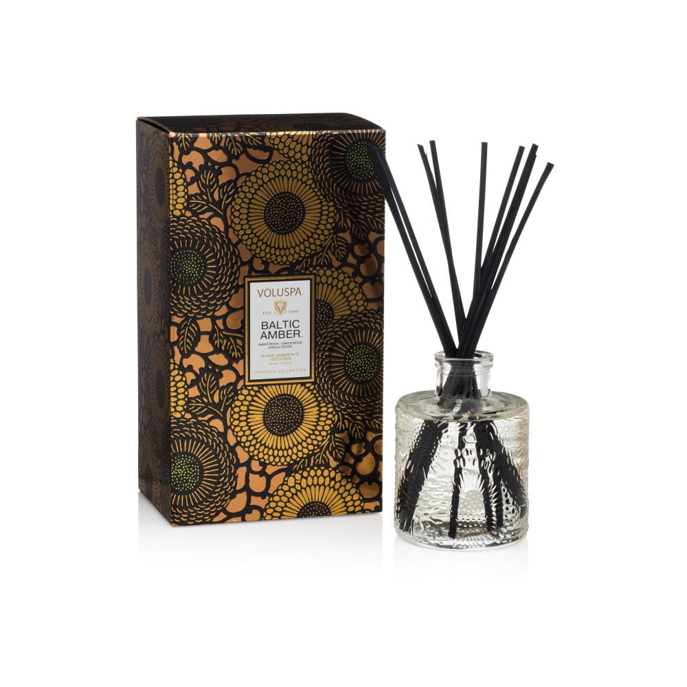 Vonný difuzér s vůní pryskyřice, vanilky, orchideje a santalového dřeva Voluspa, intenzita vůně 4-6 měsíců