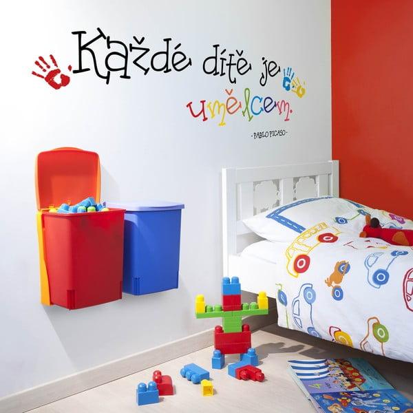 Samolepka na stěnu Každé dítě je umělcem