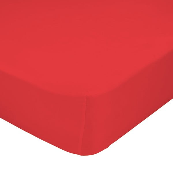 Červené elastické prostěradlo HF Living Basic, 90x200cm