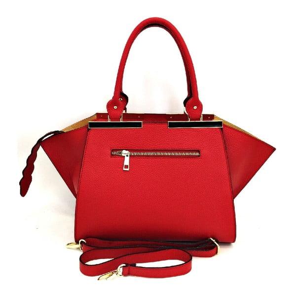Kožená kabelka Desideria Red