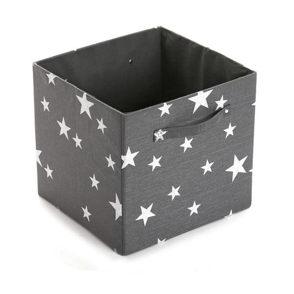 Úložný box White&Grey Stars, 32x32 cm