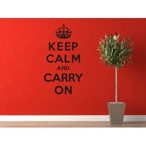 Samolepka na stěnu Keep Calm and Carry On