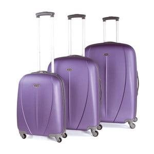 Sada 3 kufrů Tempo, fialová