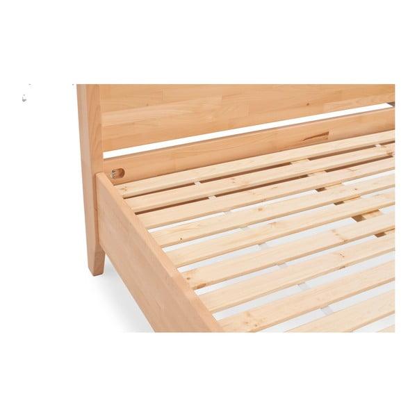 Dvoulůžková postel z masivního bukového dřeva SKANDICA Canopy, 200 x 200 cm