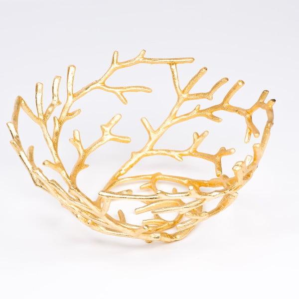 Mísa Branch 40 cm, zlatá