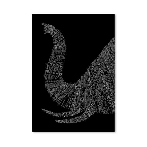 Plakát Elephant (On Black) od Florenta Bodart, 30x42 cm