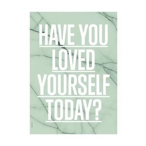 Autorský plakát Loved Yourself Green, A3