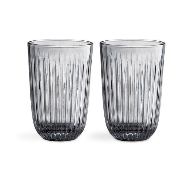 Sada 2 šedých skleněných sklenic Kähler Design Hammershoi, 330 ml
