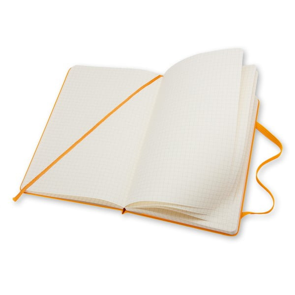 Malý žlutý zápisník Moleskine Hard, čtverečkovaný