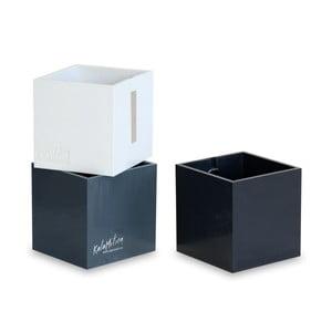 Sada 3 ks středních magnetických květináčů CUBE, černá