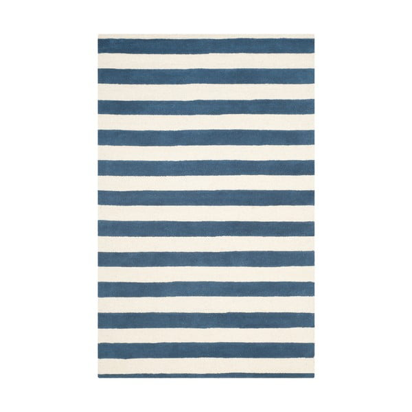 Modrý vlněný koberec Safavieh Ada, 243 x 152 cm