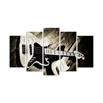 Tablou din mai multe piese Guitar, 110 x 60 cm