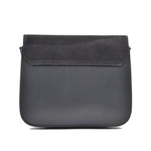 Černá kožená kabelka Mangotti Zoe