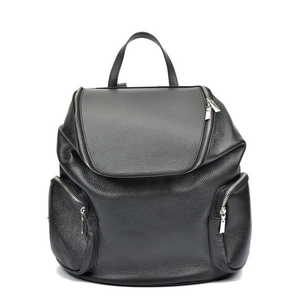 Černý kožený batoh Luisa Vannini Gemma