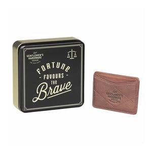 Kožená peněženka na karty Gentlemen's Hardware Card