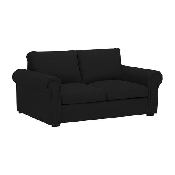 Černá dvoumístná pohovka Windsor & Co Sofas Hermes