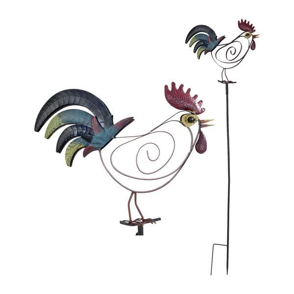 Zapichovací dekorace na zahradu Rooster, 132 cm