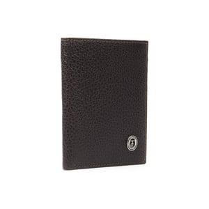 Hnědá pánská kožená peněženka Trussardi Zala, 12,5 x 9,5 cm