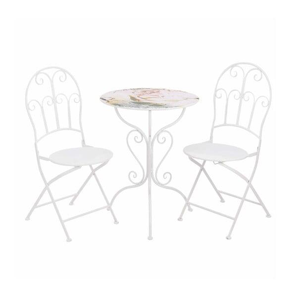 Stolek a 2 židle Pink Flower