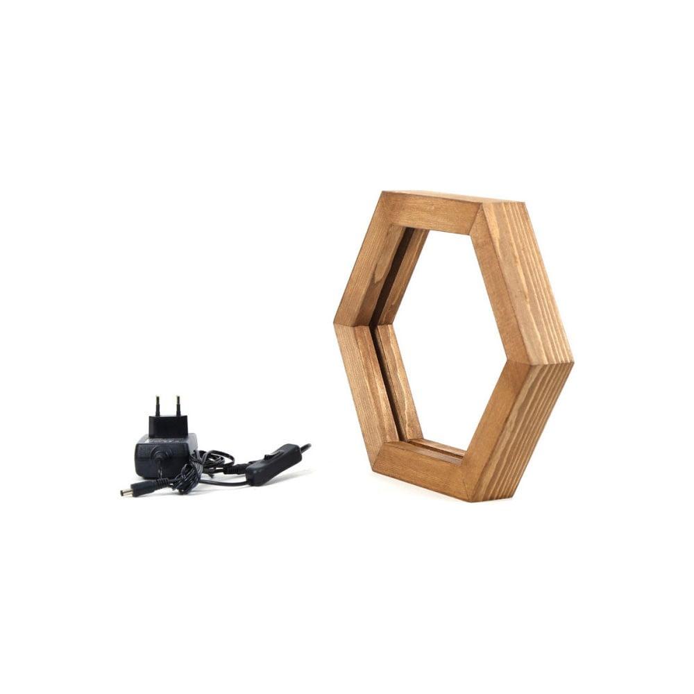Dřevěné stolní svítidlo Honeybee