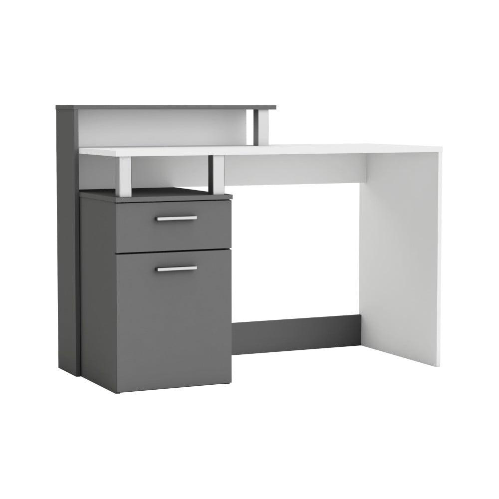 Šedý pracovní stůl Oracle