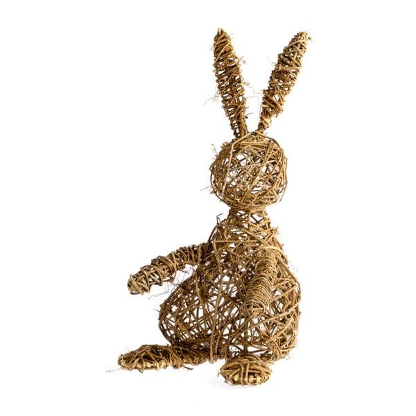 Dekoracja wiklinowa w kształcie zająca Dakls Easter Time