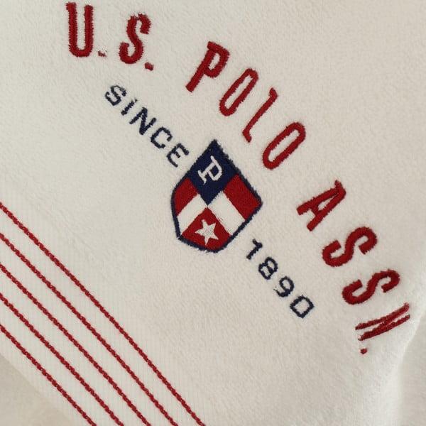 Bílá sada dámského županu a 2 ručníků U.S. Polo Assn. Nebraska, vel. XS/S
