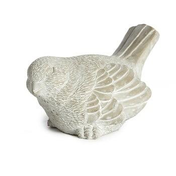 Decorațiune din ceramică Simla Bird, înălțime 14cm, gri