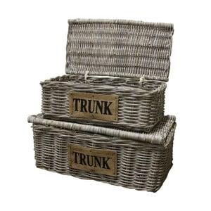 Sada 2 úložných košíků  z koboo ratanu HSM Collection  Tekst