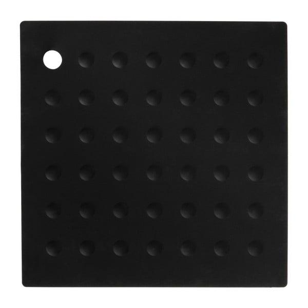 Černá silikonová podložka pod hrnce Premier Housewares Zing
