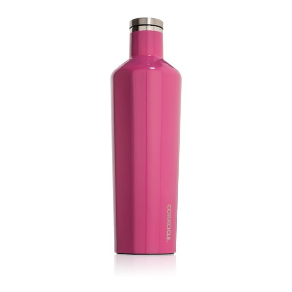 Różowa podróżna butelka termiczna Corkcicle Canteen, 740 ml