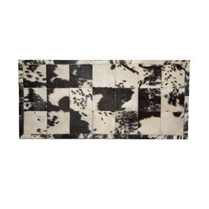 Kožený koberec Carrare 140x200 cm, černý/béžový