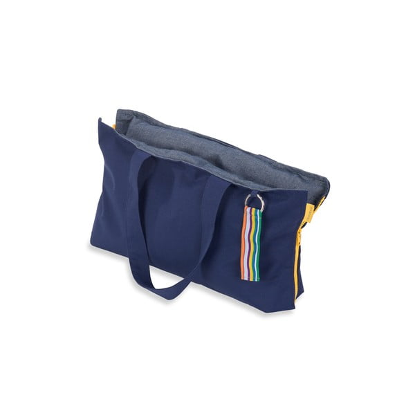 Skládací sedák Hhooboz 50x60 cm, tmavě modrý