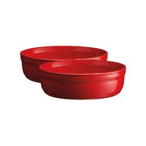 Sada 2 zapékacích misek na crème brûlée v červené barvě Emile Henry