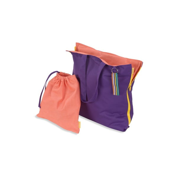 Skládací sedák Hhooboz 100x50 cm, fialový