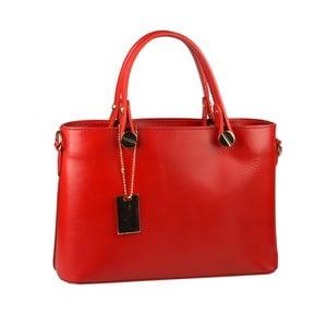 Červená kožená kabelka Matilde Costa Banusa