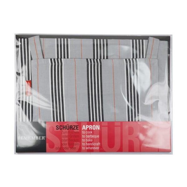 Kuchyňská zástěra Grey Stripes