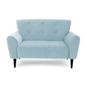 Canapea cu 2 locuri Vivonita Kiara, albastru deschis de la Vivonita
