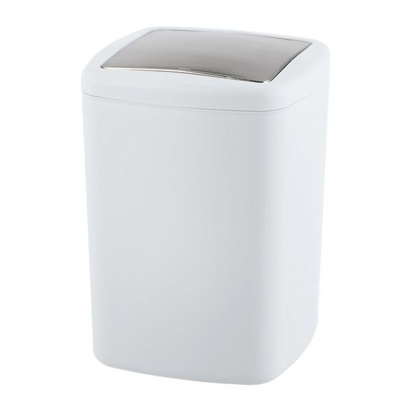 Bílý odpadkový koš Wenko Barcelona L, výška 28,5 cm