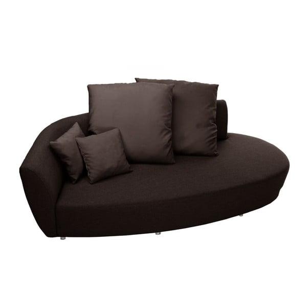 Canapea cu trei locuri Florenzzi Viotti, spătar pe partea stângă, maro