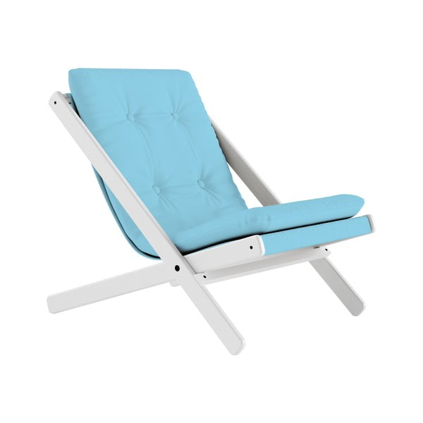 Fotoliu pliant Karup Design Boogie White/Light Blue